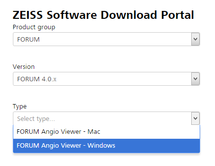 portale di download software ZEISS